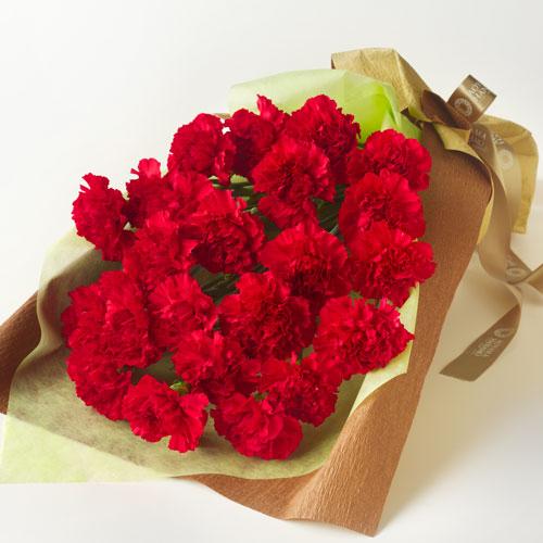 赤いカーネーションの花束