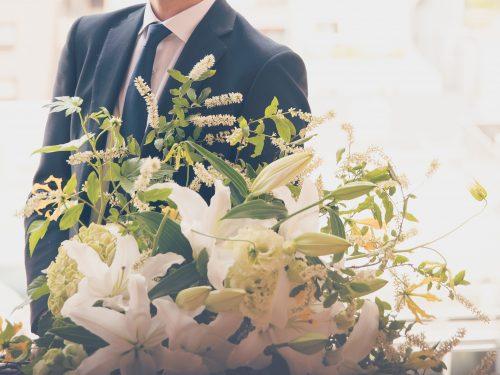 花束をプレゼントに