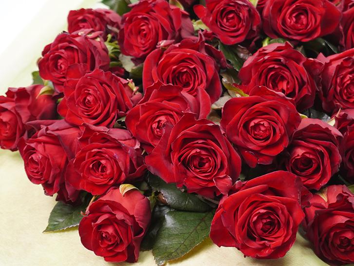 バラの花束の拡大画像