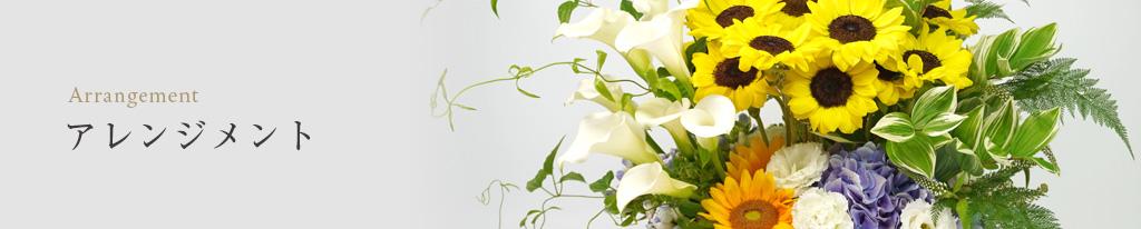 ピンクや白カラーのアレンジメントの画像
